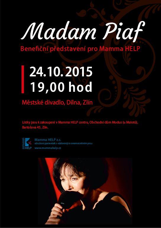 Benefiční představení Madam Piaf ve Zlíně