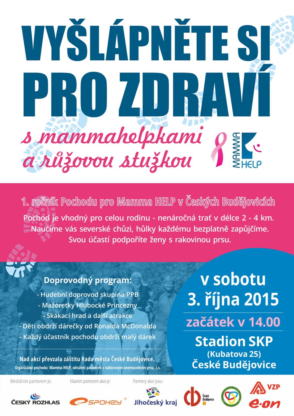 Pochod pro Mamma HELP v Českých Budějovicích