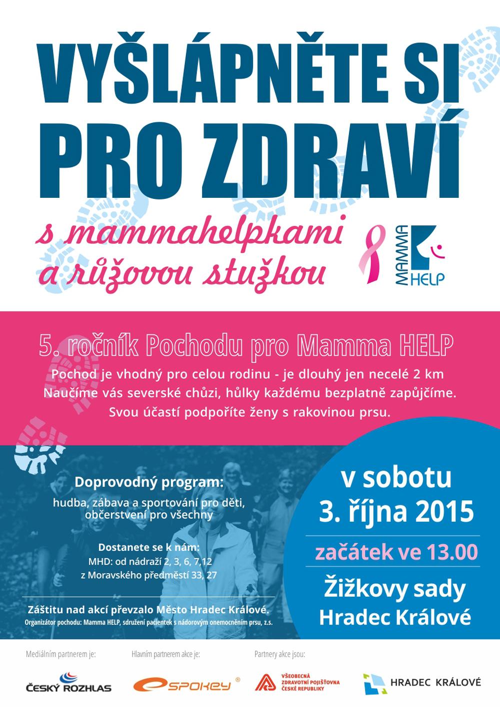 Pochod pro Mamma HELP v Hradci Králové