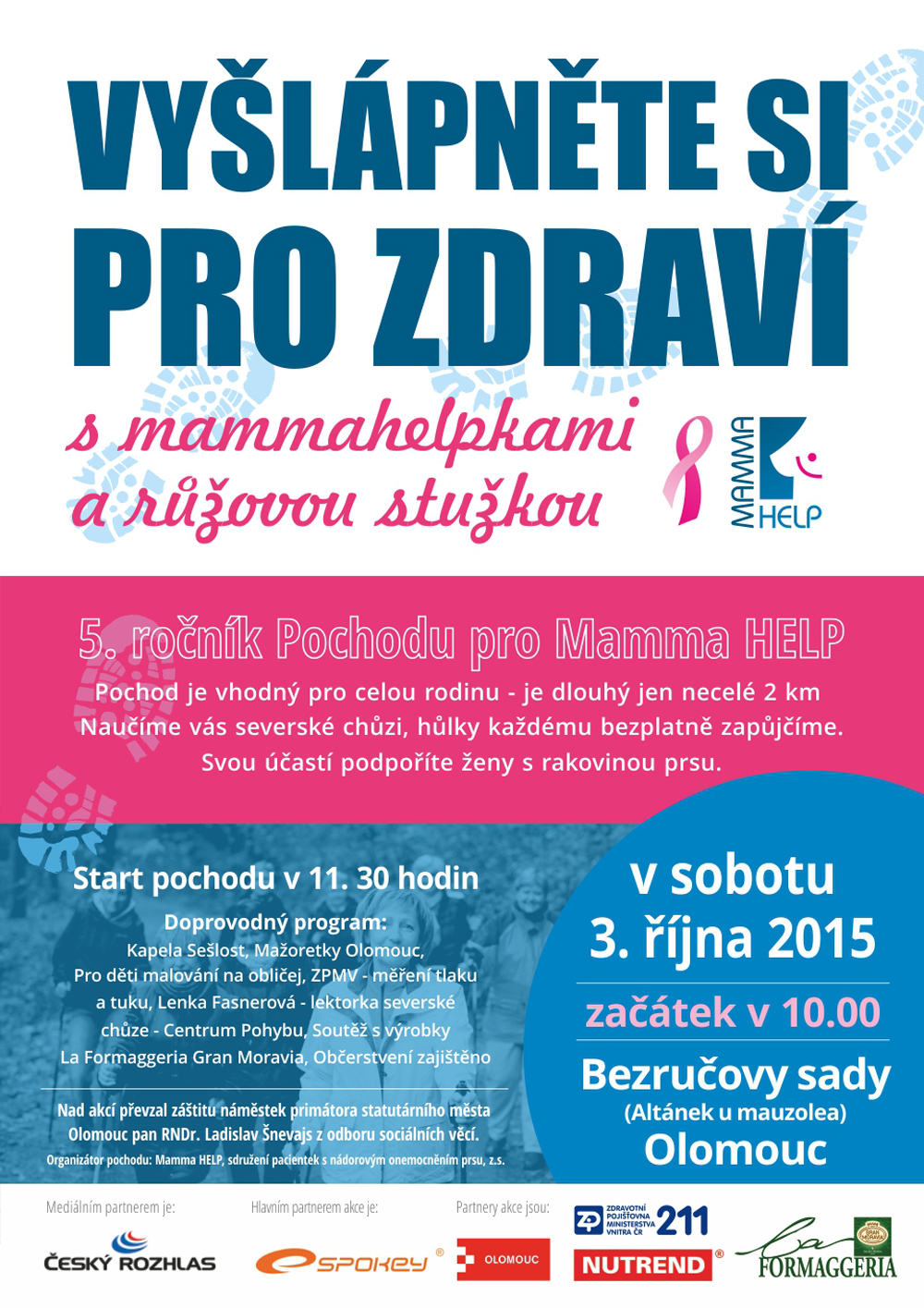 Pochod pro Mamma HELP v Olomouci