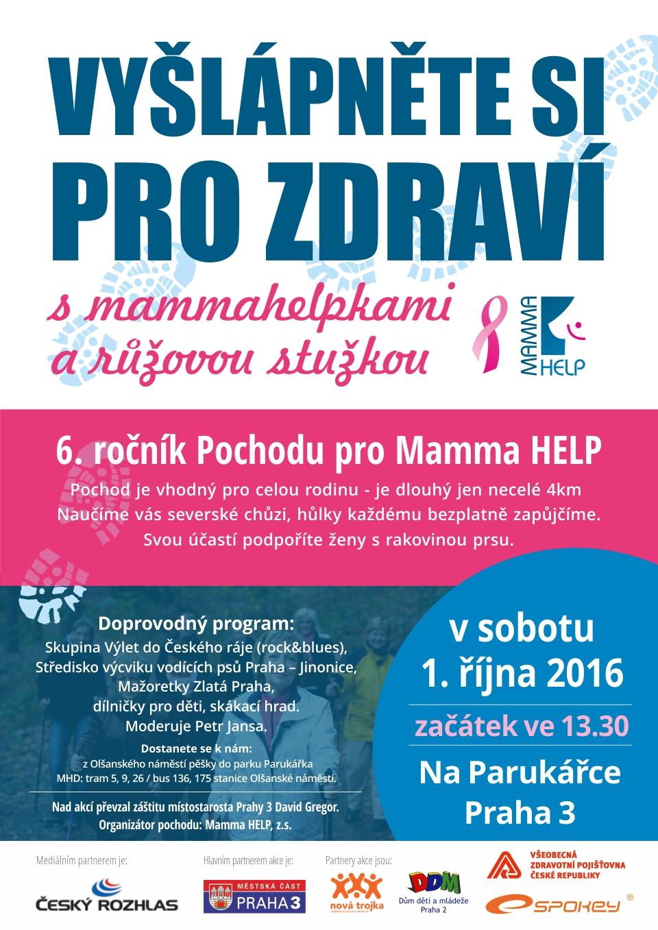 Pozvánka na pochod pro Mamma HELP