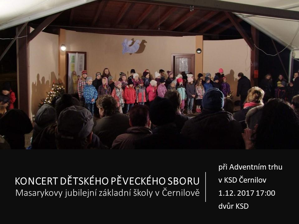 Koncert ZŠ Adventní trhy 2017