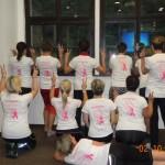 Růžová ve fitness